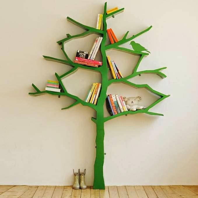 Membuat Rak Buku Dari Ranting Pohon