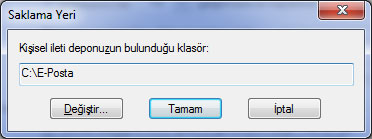 Windows Live Mail Full Yedekleme