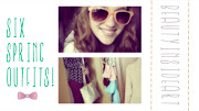 . I uploaded a video on my youtube account about six spring outfits.