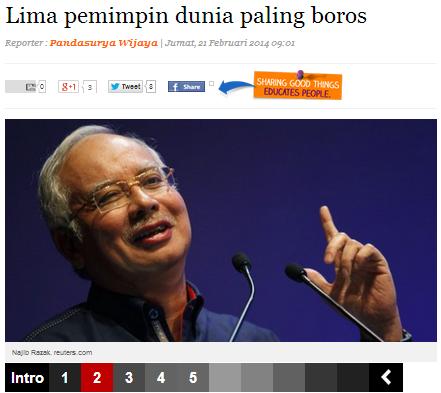 Tindakan Putrajaya Memotong Peruntukan Setiap Kementerian Kerana Keborosan Najib Rosmah