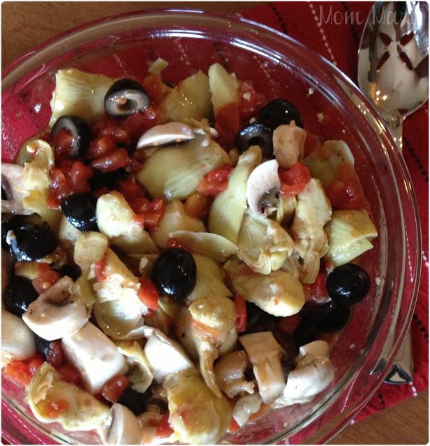 Tomato and Artichoke Vegetable Side Dish Salad Recipe