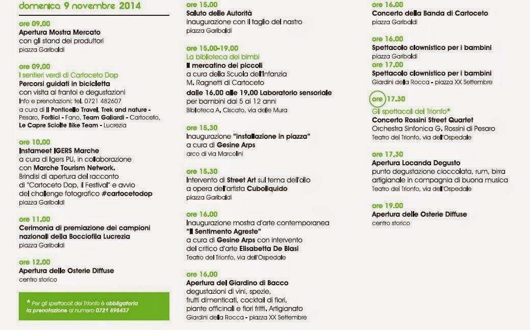 Programma 9 Novembre