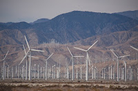 A wind farm near Palm Springs, Calif. (Credit: Chris Goldberg/flickr) Click to Enlarge.