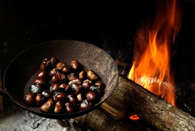 Chestnuts roasted on an open fire... fantastic by the way.