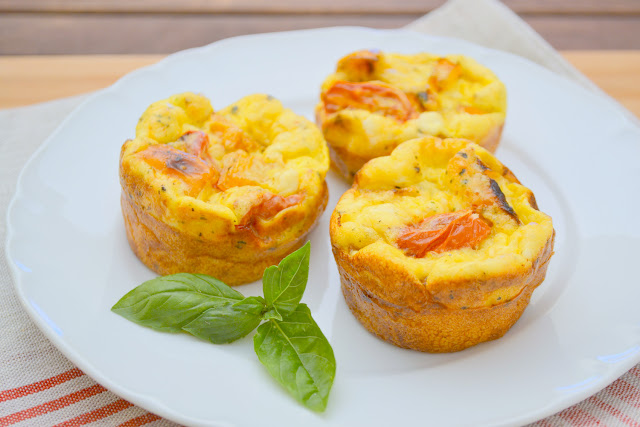 Roasted Tomato and Pepper Mini Frittatas Recipe