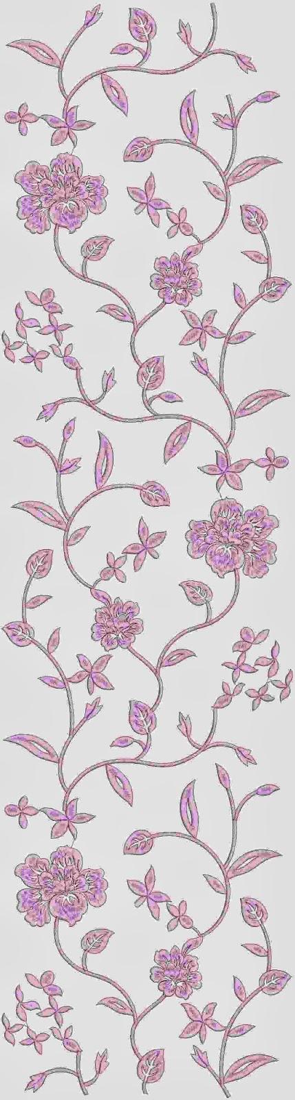 pienk kleur hand borduurwerk masjien Oral patroon