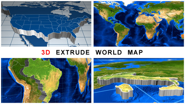 VideoHive 3D Extrude World Map