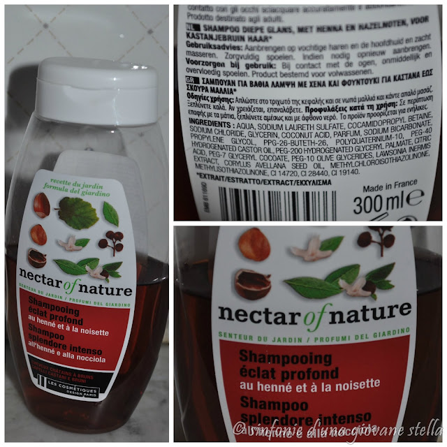 review ● les cosmetiques nectar of nature shampoo all'hennè e alla nocciola