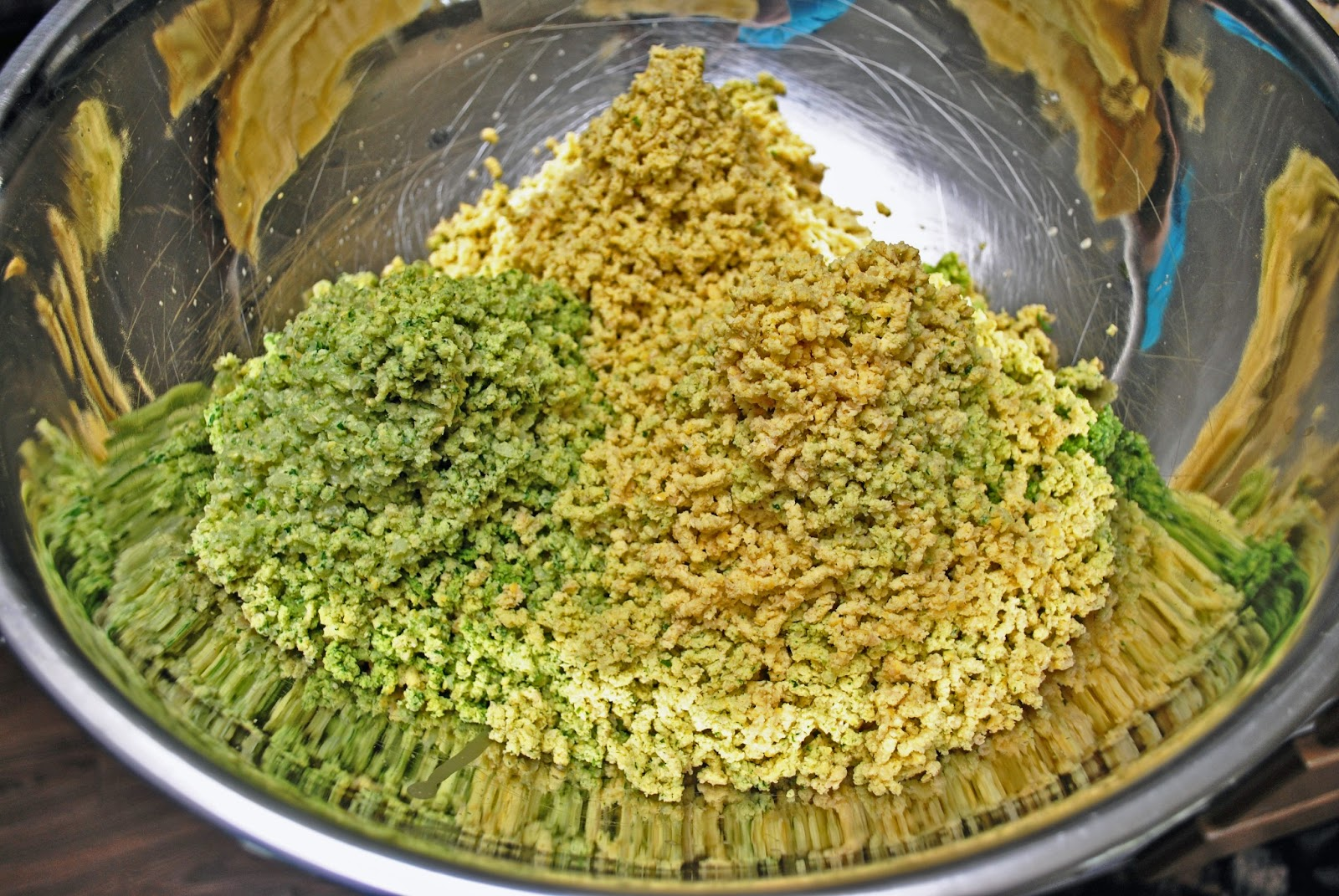 Ground up falafel mixture
