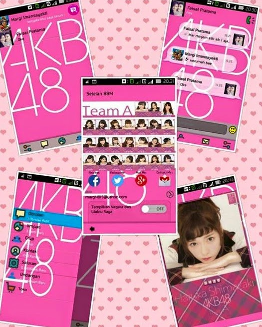Download BBM Mod 2.6.0.30 Thema GirlBand Jepang AKB48 Apk(Dual Pin)