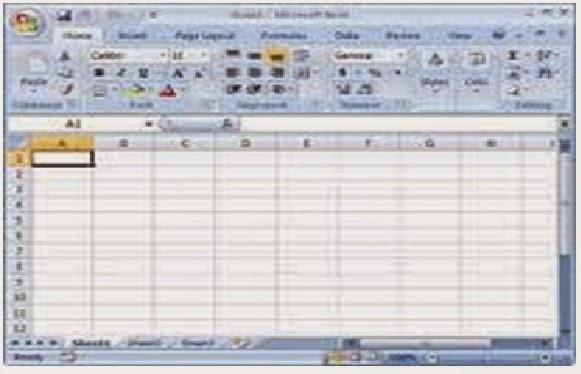 tampilan program Microsoft Excel