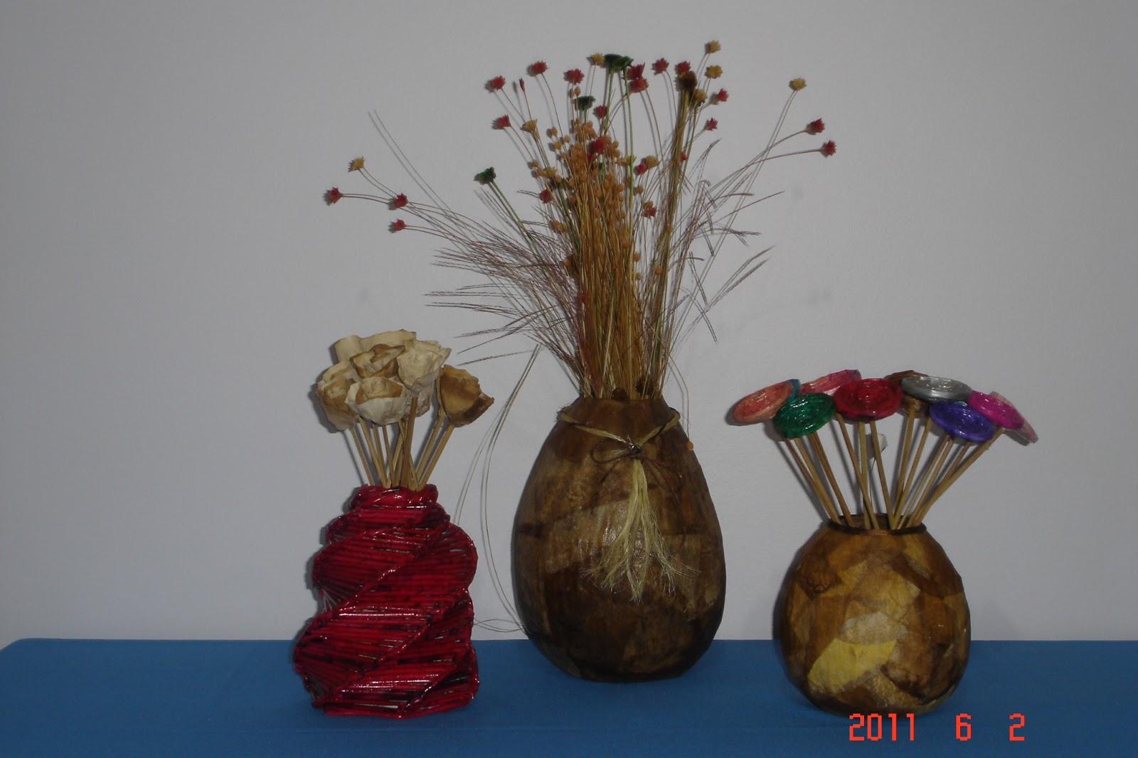 Armario Escobero Ikea ~ ReSignificArt Artesanato Reciclável Vasos (Vasos de Jornal e Filtro de Café)