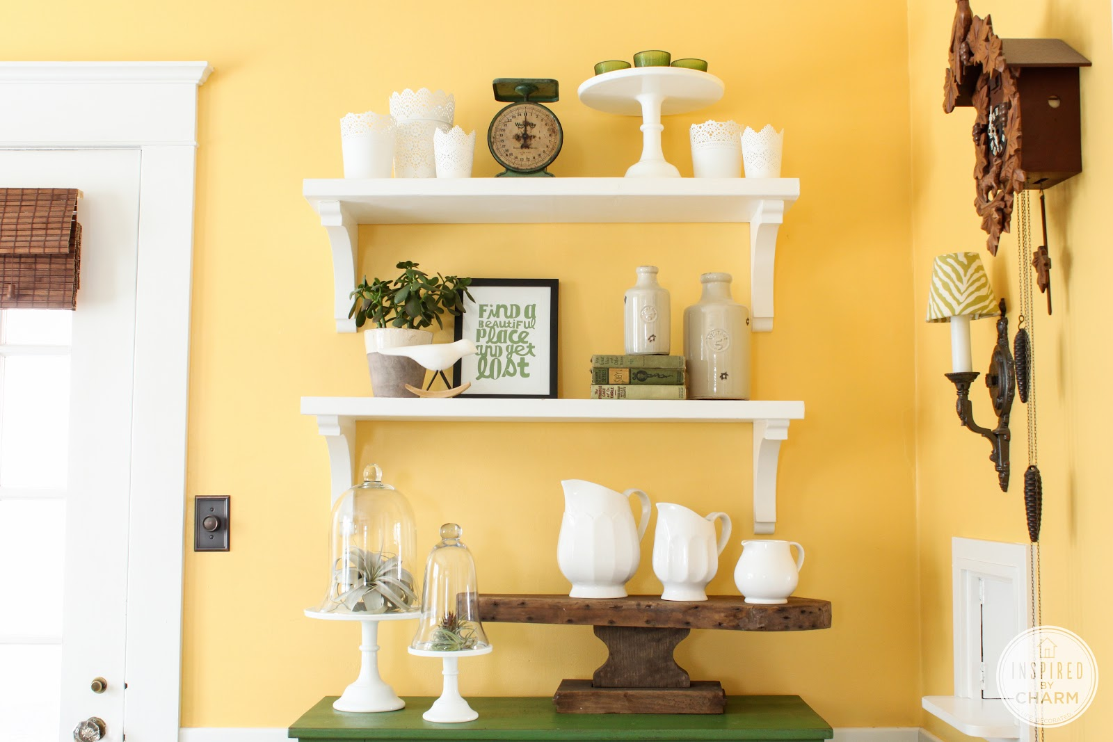 dinning room shelf update - inspiredcharm