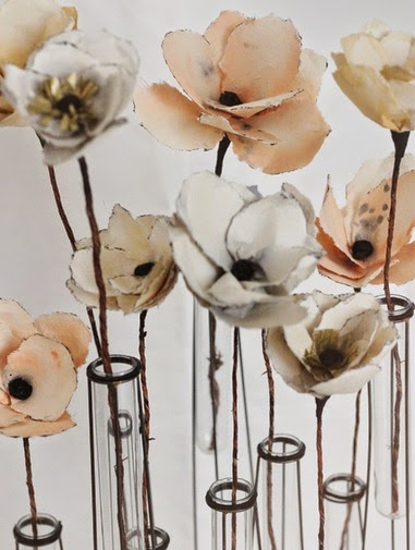 Como Hacer Flores de Papel Pintado