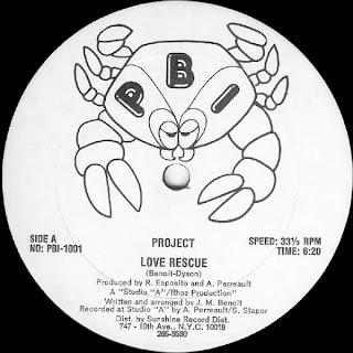 Project - Love rescue 12 Inch 1981
