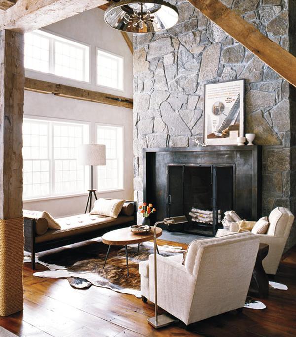 Neo arquitecturaymas: Interiores rústicos en madera y piedra en un ...
