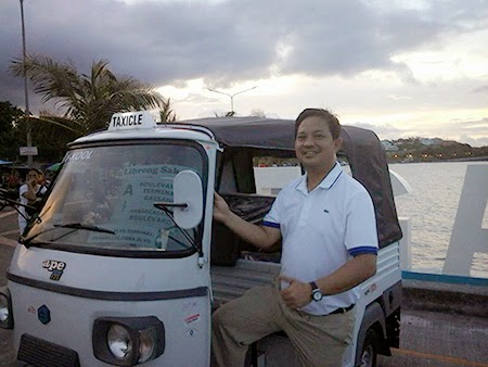 Taxicle in Legazpi City, Albay Photo: Mayor Noel Rosal
