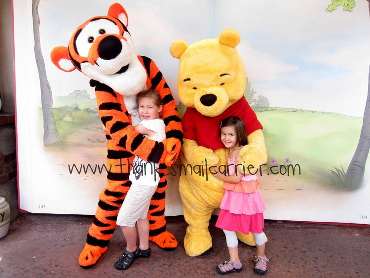 Pooh and Tigger at Disney World