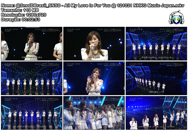 @SnsdDBrasil_SNSD - All My Love Is For You @ 121021 NHKG Music Japan