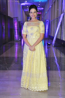 Srimukhi in transparent Gown Spicy Pics at Nenu Sailaja movie audio launch function