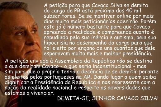"""""""CAVACO: SE TEM UM PINGO DE VERGONHA, DEMITA-SE"""""""