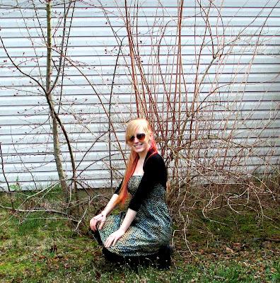 style+strapless+dress - Warm Ways to Style a Strapless Dress