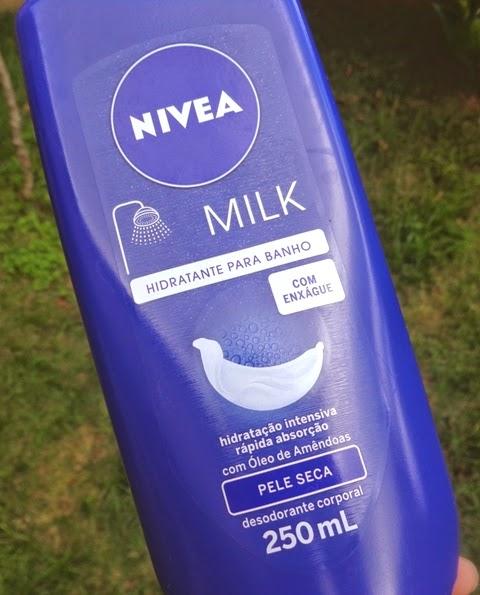 Hidratante para banho com enxágue Nivea | Dica de beleza