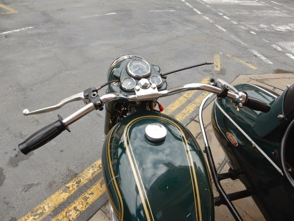 Mummy Returns Royal Enfield Bullet motorbike