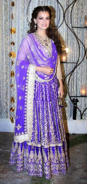 dia mirza hot wedding photo
