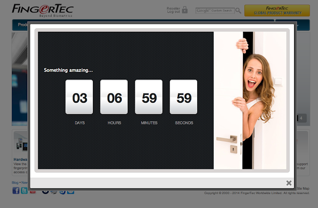 FingerTec TimeTec Cloud Launching Countdown