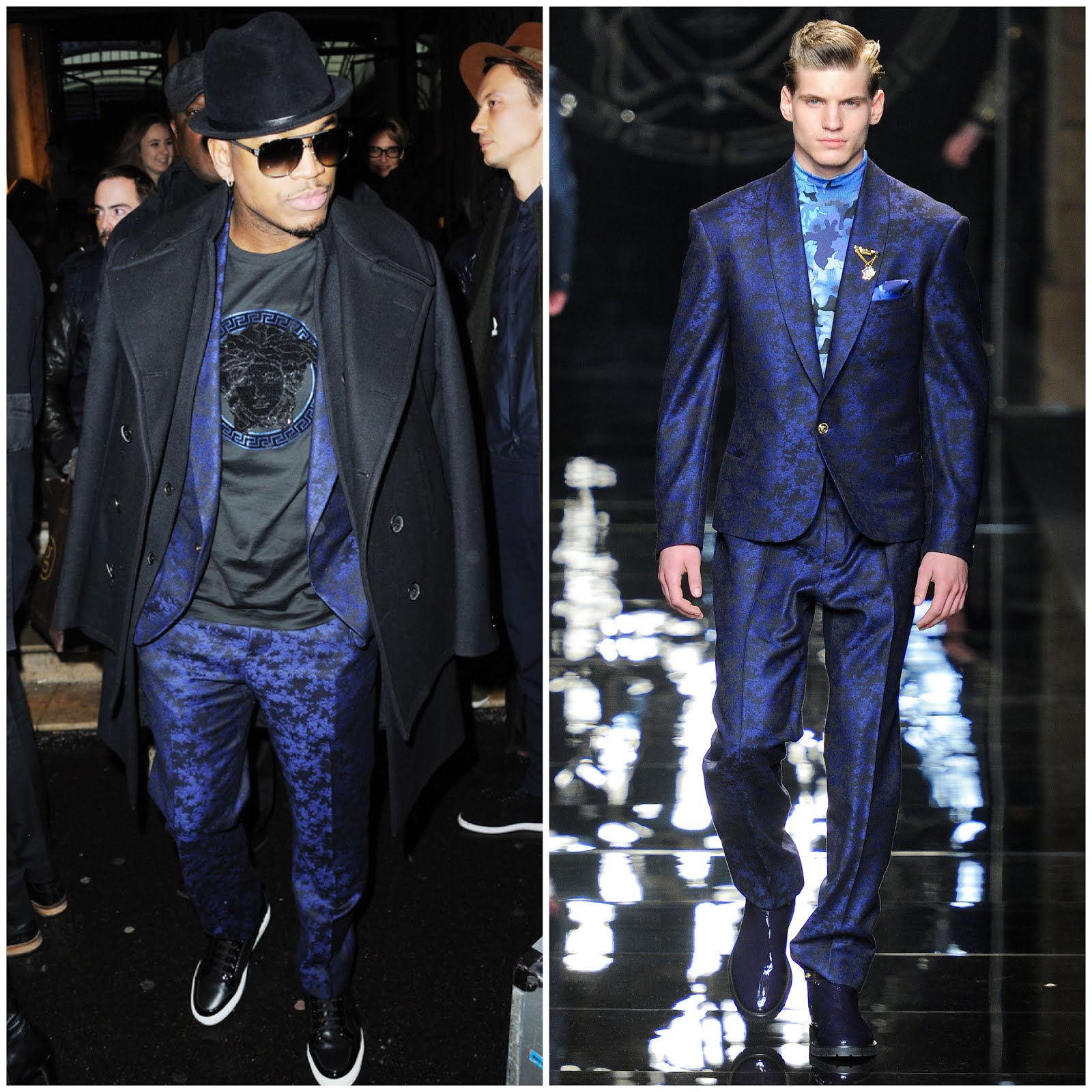 00O00 Menswear Blog Ne-Yo at Atelier Versace Spring-Summer 2013 Haute-Couture collection show held at the Espace Centurail in Paris