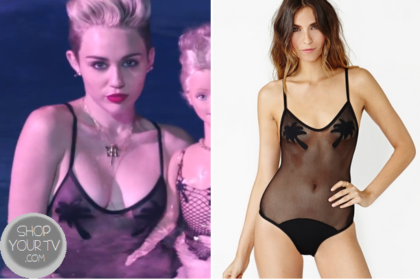 We Can't Stop: Miley's Mesh Swimsuit