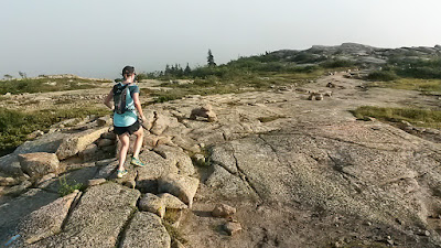 running on Cadillac Mountain