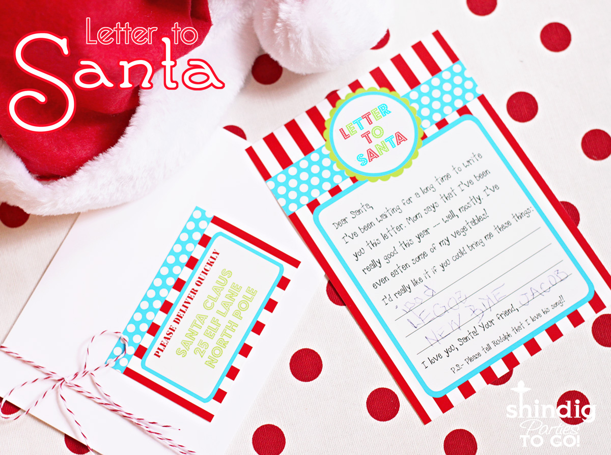 Amandas parties to go freebie letter to santa printable freebie letter to santa printable spiritdancerdesigns Image collections