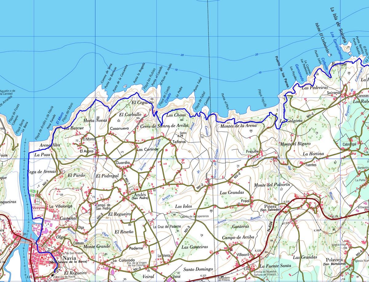 Trotones senda costera otur navia tramo xvii - Casa consuelo otur ...