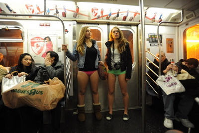 No Pants Subway Ride-4