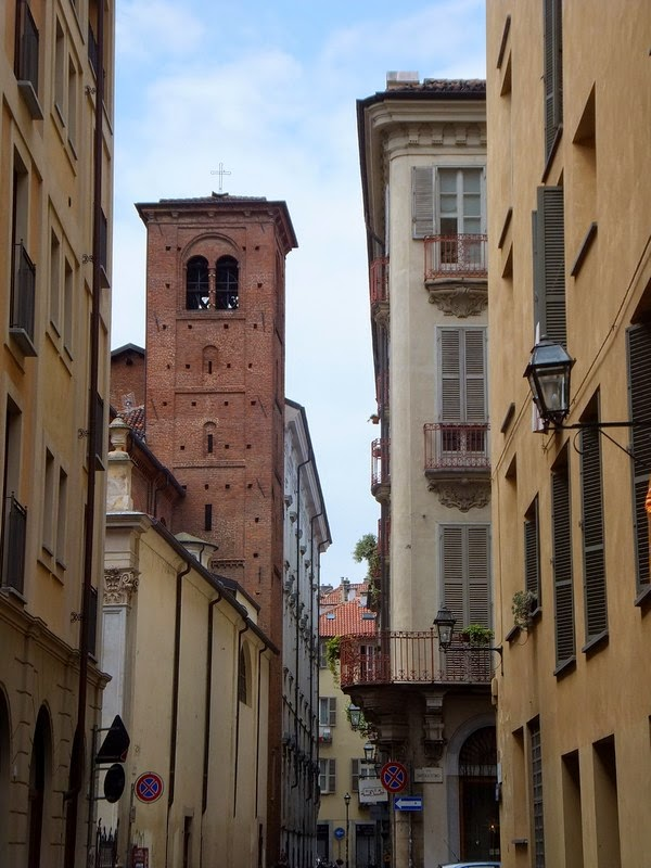 Turin Italie Via Garibaldi balade piazza emanuele filiberto