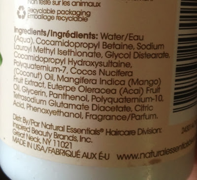 Natural Essentials Shampoo Ingredients