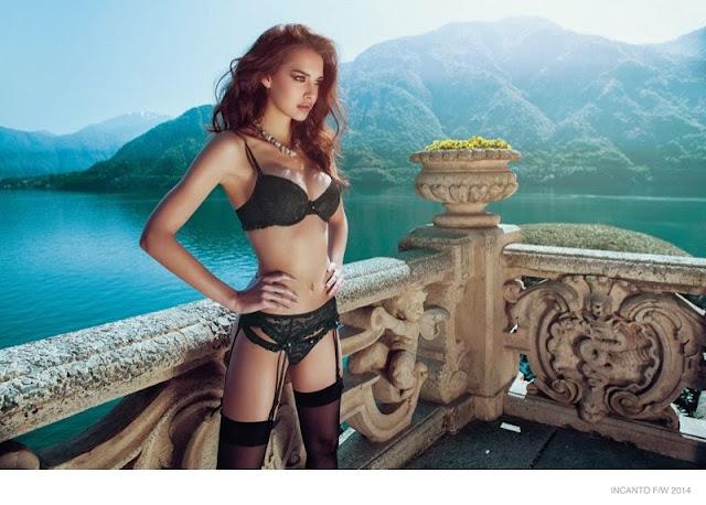 Iris Kavka wearing sexy Incanto Delicious Seductive Lingeries Hot pics