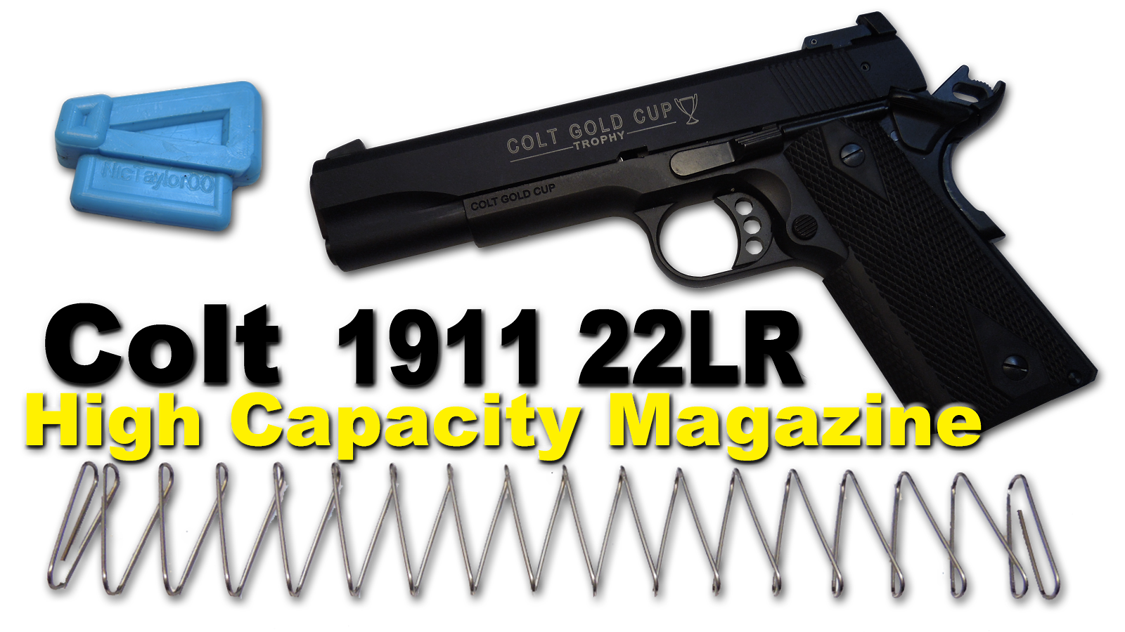 Colt Gold Cup 1911 22lr High Cap Mag