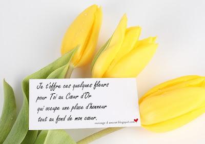 message d'amour-fleur