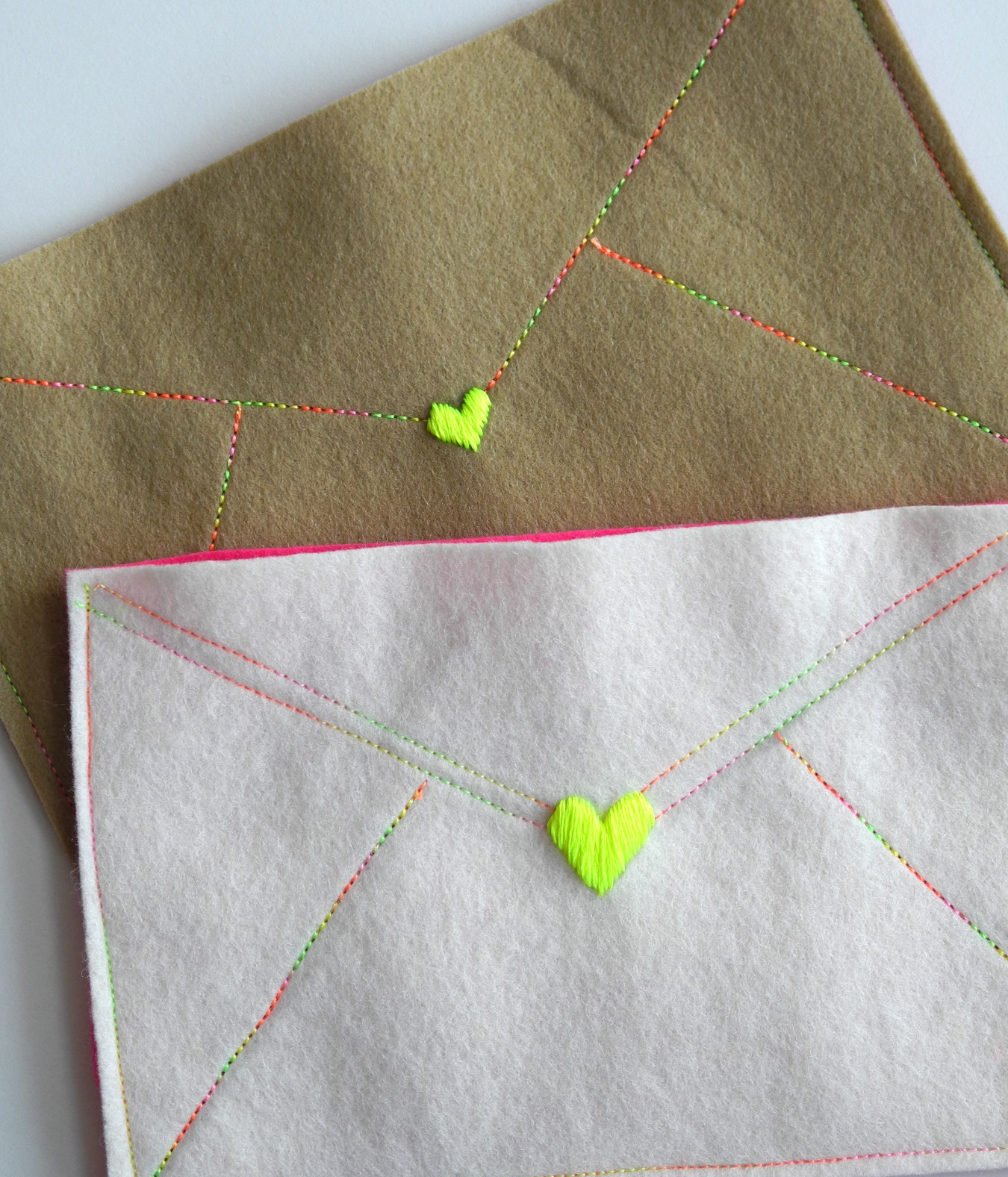 One bunting away felt envelopes What side of envelope does stamp go on