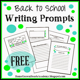 FREE Back to School Writing Prompts