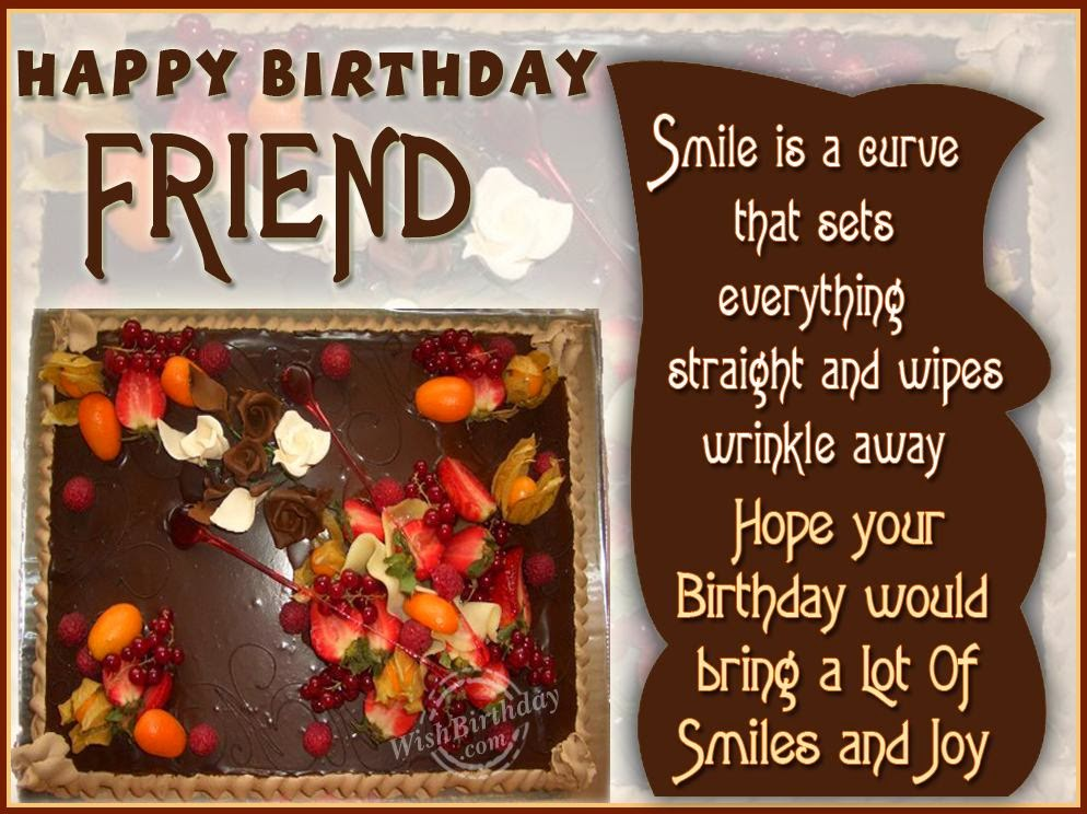 Happy Birthday Wishes For Friend Birthday Wishes – Happy Birthday Wishes Greetings for Friends
