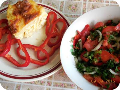 cartofi frantuzesti, capia si salata de rosii