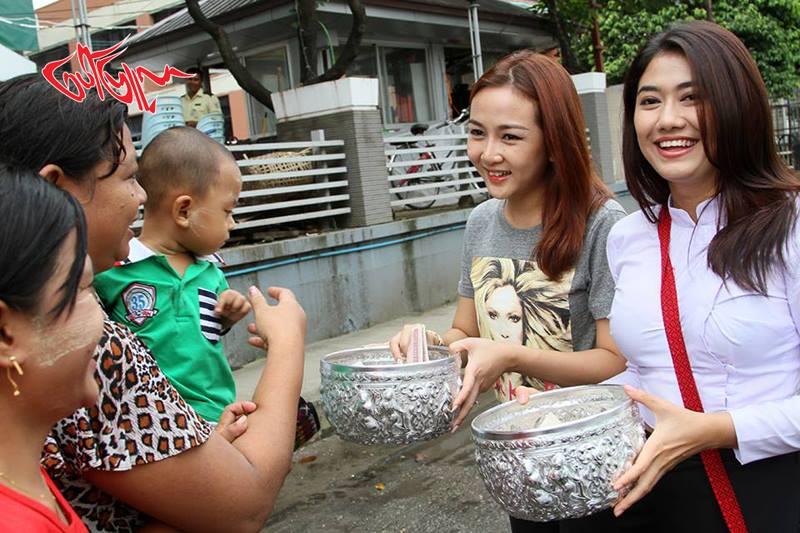 Wine Su Khine Thein - Myanmar Flood 2015 Donation Activities