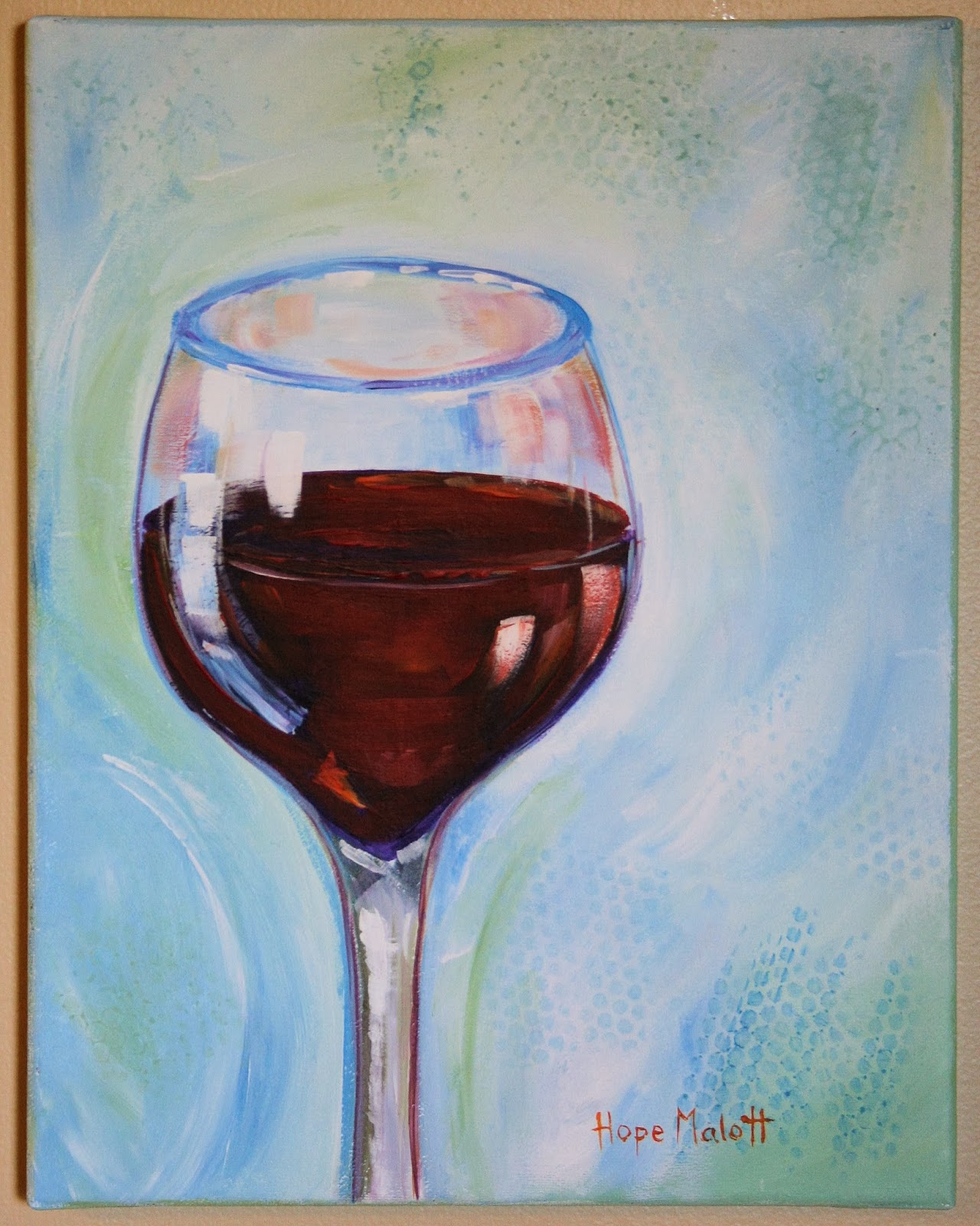 Hope malott decorative arts apothic red wine glass paint for Acrylic paint on wine glasses