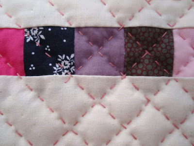 Quilting - close up.