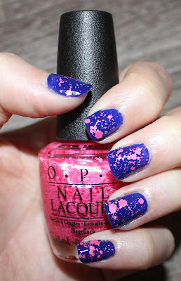 OPI My Car Has Navy-gation and Pinks & Needles