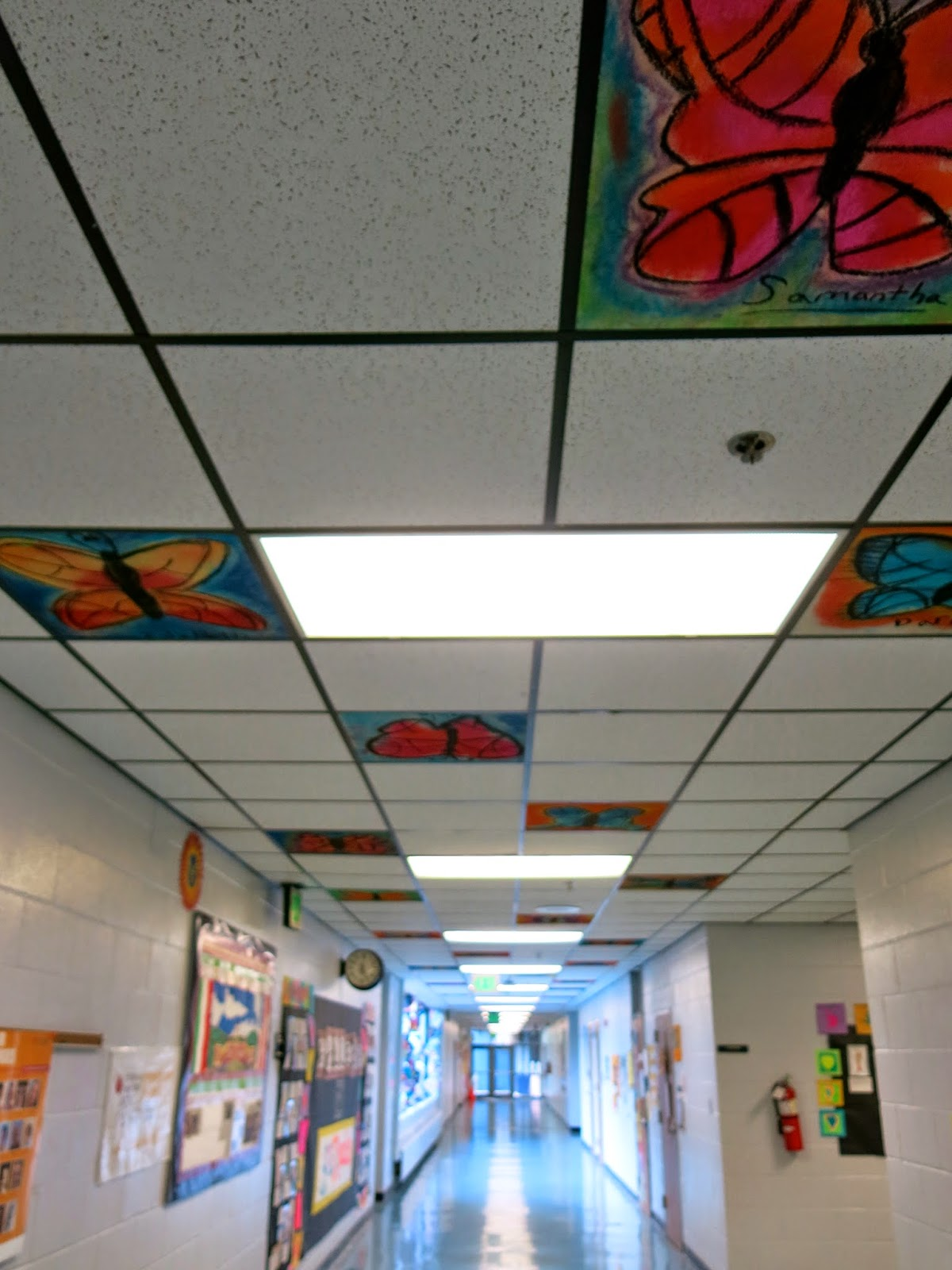 Ceiling tile art ideas
